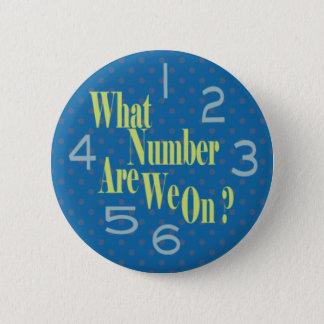 Bóton Redondo 5.08cm que número é nós no azul com números