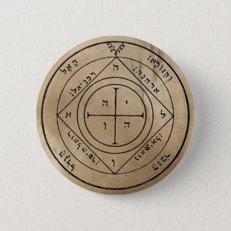 Bóton Redondo 5.08cm Quinto Pentacle do botão de Saturn