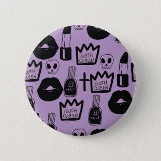 Bóton Redondo 5.08cm rainha gotica purpura