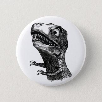 Bóton Redondo 5.08cm Raiva Meme de T-Rex - botão de Pinback