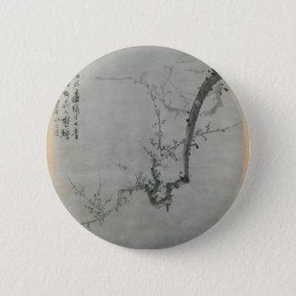 Bóton Redondo 5.08cm Ramo da ameixa - Yi Yuwon