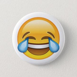 Bóton Redondo 5.08cm Rasgos de grito de riso do emoji da alegria