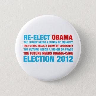 Bóton Redondo 5.08cm Re-Elect Obama 2012