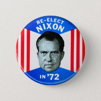 Bóton Redondo 5.08cm Re-Elect retro Nixon da política do kitsch do