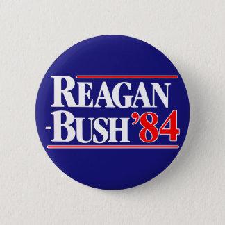 Bóton Redondo 5.08cm Reagan Bush 84