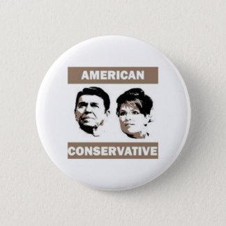 Bóton Redondo 5.08cm Reagan conservador americano Palin