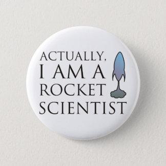 Bóton Redondo 5.08cm Realmente, eu sou um cientista do foguete