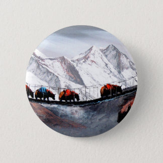 Bóton Redondo 5.08cm Rebanho de iaques Himalaya da montanha