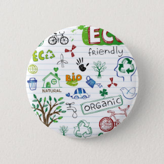 Bóton Redondo 5.08cm Reciclar Eco amigável