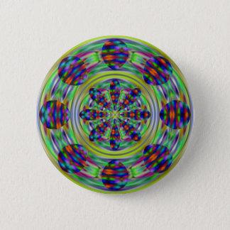Bóton Redondo 5.08cm Redemoinhos do caleidoscópio do Hippie da tintura