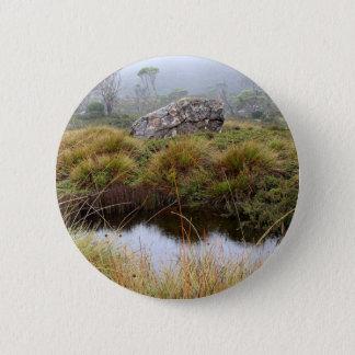 Bóton Redondo 5.08cm Reflexões enevoadas da manhã, Tasmânia, Austrália