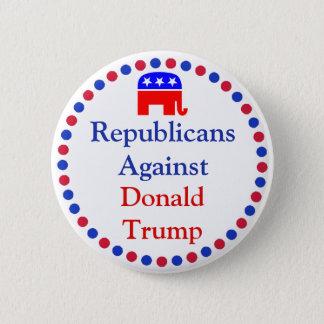 Bóton Redondo 5.08cm Repulicans contra o botão de Donald Trump