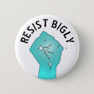 Bóton Redondo 5.08cm Resista botão do punho de Bigly o anti Donald