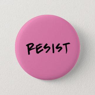 Bóton Redondo 5.08cm Resista o botão, padrão, rosa ou escolha a cor