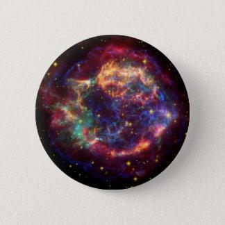Bóton Redondo 5.08cm Resto do Supernova da galáxia do Cassiopeia