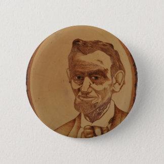 Bóton Redondo 5.08cm Retrato de Abraham Lincoln