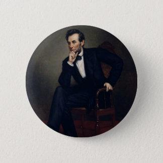 Bóton Redondo 5.08cm Retrato de Abraham Lincoln por George Healy