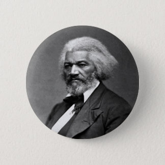 Bóton Redondo 5.08cm Retrato de Frederick Douglass por George K. Warren