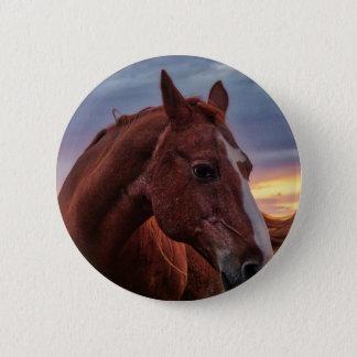 Bóton Redondo 5.08cm Retrato do cavalo
