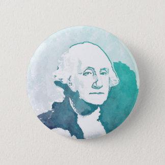 Bóton Redondo 5.08cm Retrato do pop art de George Washington