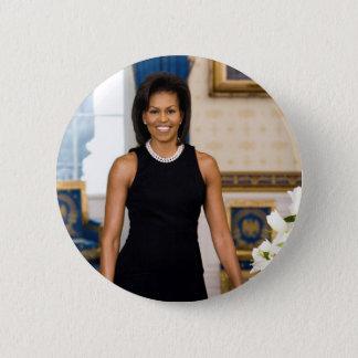 Bóton Redondo 5.08cm Retrato oficial da primeira senhora Michelle Obama