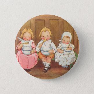 Bóton Redondo 5.08cm Rima de berçário das crianças quentes do papa de