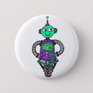 Bóton Redondo 5.08cm Robô, roxo e verde de Arnie