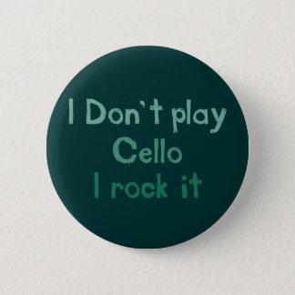 Bóton Redondo 5.08cm Rocha do violoncelo ele botão