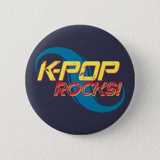 Bóton Redondo 5.08cm Rochas do K-Pop!  (Luz)