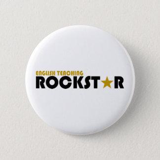 Bóton Redondo 5.08cm Rockstar de ensino inglês