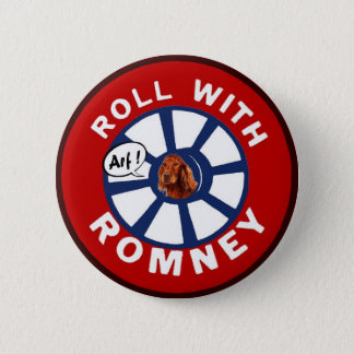 Bóton Redondo 5.08cm Rolo com Mitt Romney