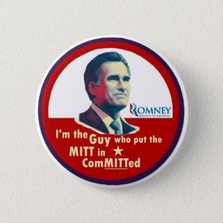 Bóton Redondo 5.08cm Romney 2012: Cometido