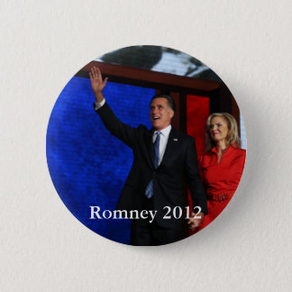 Bóton Redondo 5.08cm Romney para o presidente