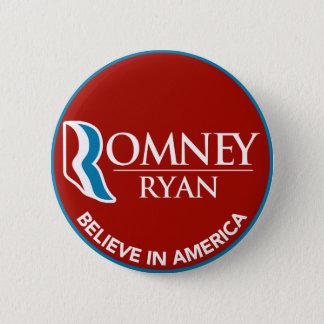 Bóton Redondo 5.08cm Romney Ryan acredita no vermelho redondo de