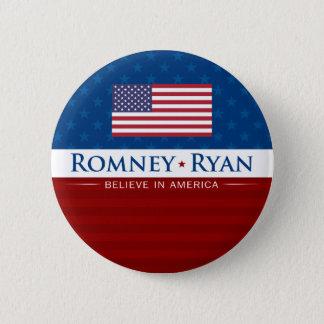 Bóton Redondo 5.08cm Romney & Ryan acreditam em América