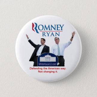 Bóton Redondo 5.08cm Romney-Ryan: Defendendo a maneira americana