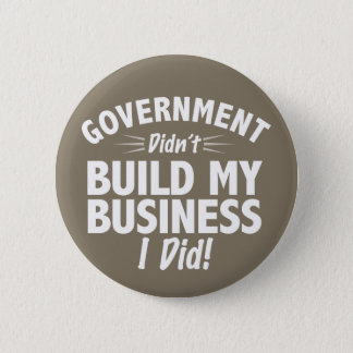 Bóton Redondo 5.08cm Romney Ryan - o governo não construiu meu negócio