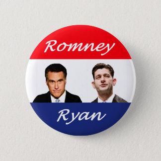 Bóton Redondo 5.08cm Romney Ryan retro