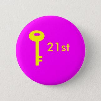 Bóton Redondo 5.08cm rosa chave, 2ø