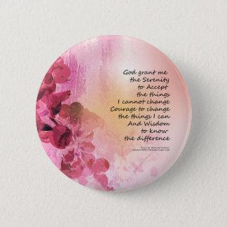 Bóton Redondo 5.08cm Rosa da cerca 3 do marmelo da oração da serenidade