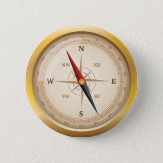 Bóton Redondo 5.08cm Rosa de compasso do OPUS