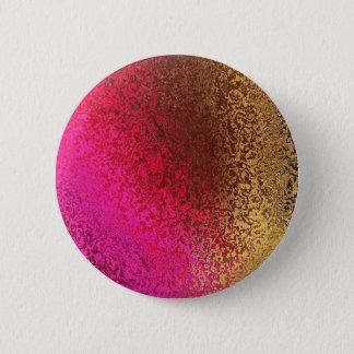 Bóton Redondo 5.08cm Rosa e abstrato do ouro