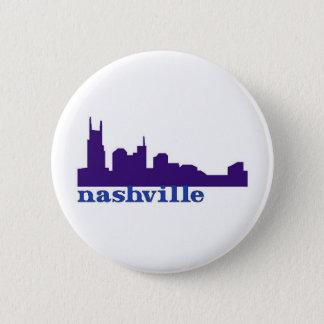 Bóton Redondo 5.08cm Roxo da skyline de Nashville