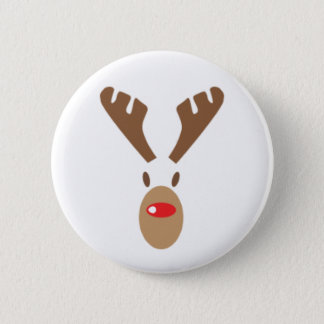 Bóton Redondo 5.08cm Rudolph a rena do Vermelho-Nariz