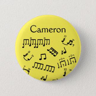 Bóton Redondo 5.08cm Rufando as notas conhecidas da percussão do botão