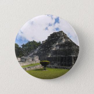 Bóton Redondo 5.08cm Ruínas maias de Chacchoben do Maya da costela