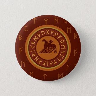 Bóton Redondo 5.08cm Runes de Viking
