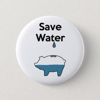 Bóton Redondo 5.08cm Salvar a água
