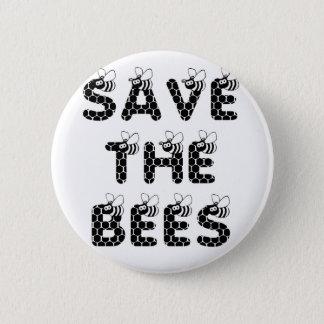 Bóton Redondo 5.08cm Salvar as abelhas brancas