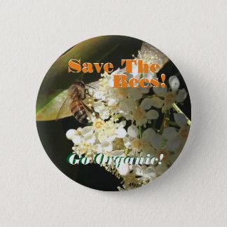 Bóton Redondo 5.08cm Salvar as abelhas/Pin do activismo